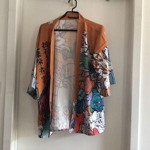 NWT Japanese print kimono